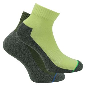 Quartersocken Sport lime-oliv-grau-mix - Herren - Skechers - 2 Paar