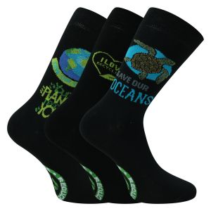 Recycling Socken - Save the planet - 3 Paar