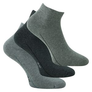 camano Quarter Socken CA-SOFT grau mix - 3 Paar