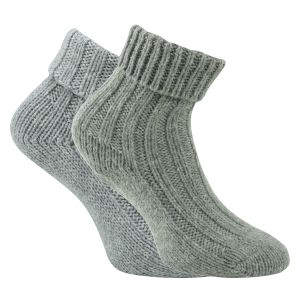 2 Paar warme Damen Wollsocken Grobstrick 100/% Virgin Wool dunkelgrau 35 bis 42