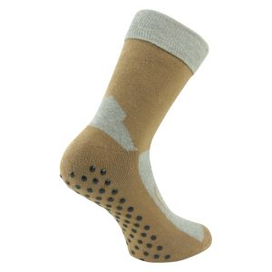 ABS Socken beige-oliv mix Homesocks - 2 Paar