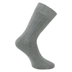 Warme Bambus Viskose Socken dick supersoft grau - 3 Paar