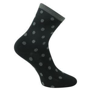 a9f40185b4e5ef Damensocken mit echtem Glitzer - schwarz Camano - 2 Paar