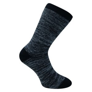 Billiger - Herrensocken MEGA DICK warm-up blau-melange Camano - 1 Paar