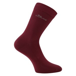 BILLIGER - Damensocken weinrot s.Oliver -Feet on Ground- 2 Paar