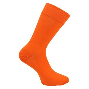 Herrensocken orange ohne Gummidruck - energy up - 2 Paar