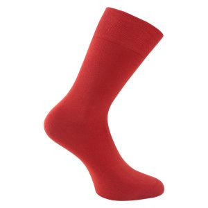Herrensocken rot ohne Gummidruck - power now - 2 Paar