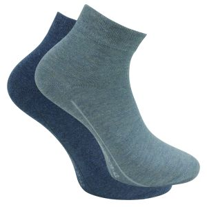 Kurze Quarter Socken denim-melange-mix Camano - 3 Paar