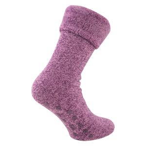 Mega Thermo Heat Socken mit ABS Noppen rosa melange - Tog Rating 2.3 - 1 Paar