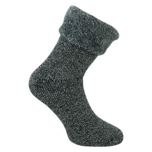 Damen HEAT Socken mit TOG Rating 3.5 anthrazit melange Mega dick - 1 Paar