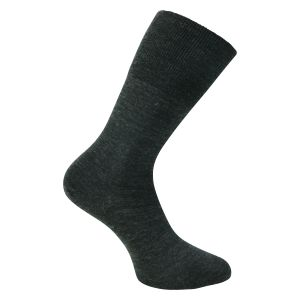 Business Socken mit 80% Merino-Wolle in anthrazit melange - 1 Paar