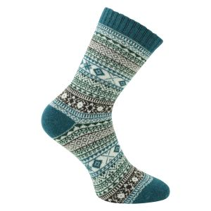 Norwegersocken superweich mit Schafwolle Winter-Motive bunt - 3 Paar