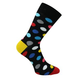 Bunte Socken mit Punkte Funny Dots + Crazy Colors - 2 Paar