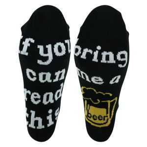 Sprüche Socken - If you can read this bring me a beer - 2 Paar