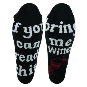 Sprüche Socken - If you can read this bring me wine - 2 Paar