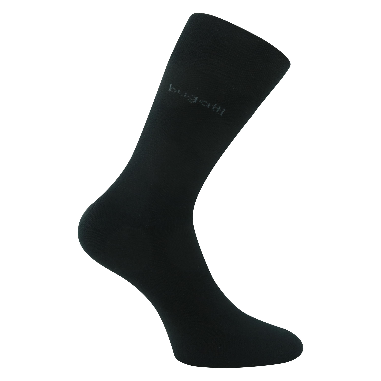 Bugatti Basic Socken schwarz ohne Gummi-Druck socken-welt.de f1850d364c
