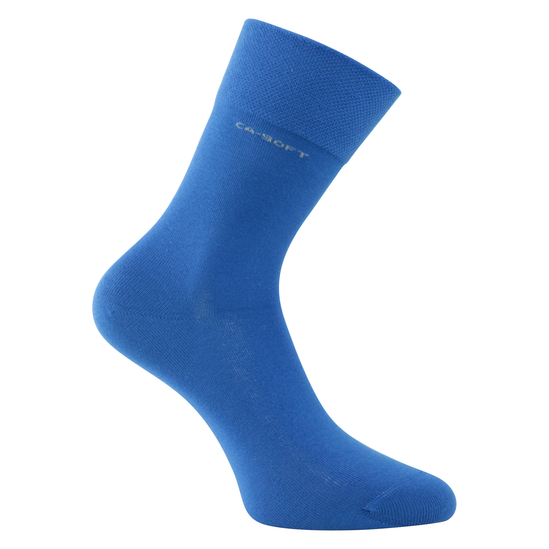 Preis sehr günstig Weltweit Versandkostenfrei CA-SOFT Socken ohne Gummi-Druck blau camano socken-welt.de