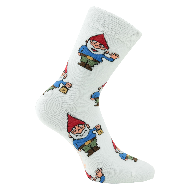 Frauen Motiv-Damensocken Fliegenpilze Socken f 8-16 Paar Lustige Gartenzwerge