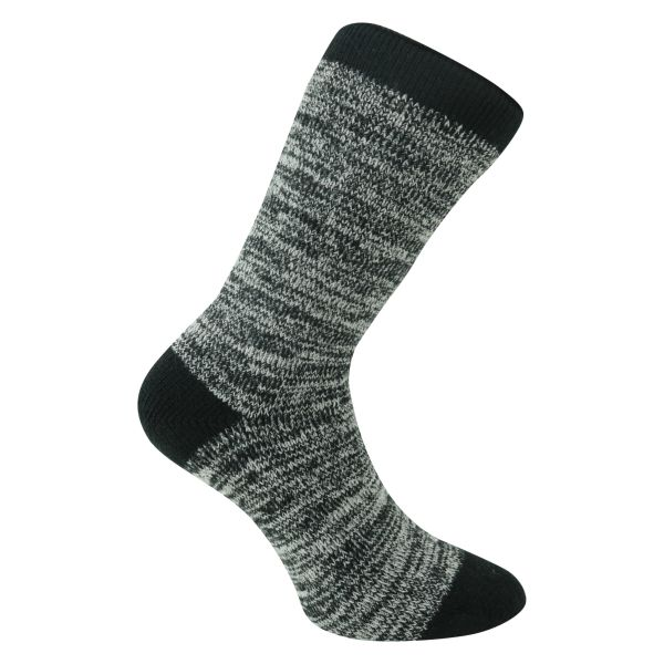 Herrensocken MEGA DICK warm-up schwarz-melange Camano - 1 Paar