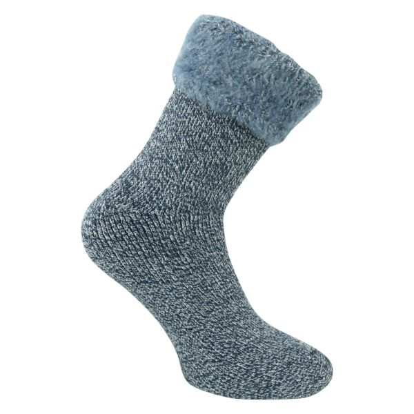 Herren Thermo HEAT Socken mega DICK marine melange - Tog Rating 3.5 - 1 Paar