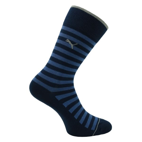 Puma Herrensocken denim-blau gestreift - 2 Paar