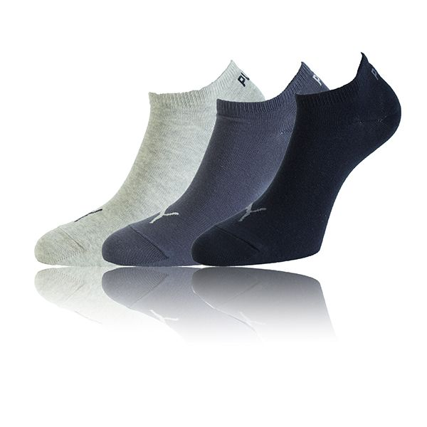 Puma Sneaker Socken navy Farbmix Invisible 3 Paar